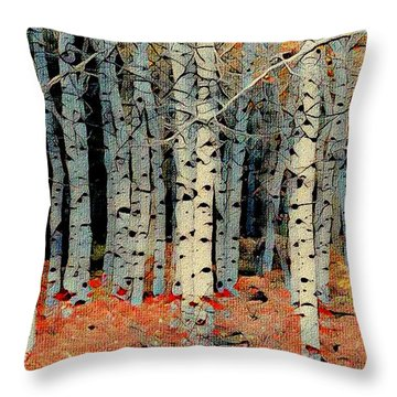 Birch Tree Forest 1 Throw Pillow
