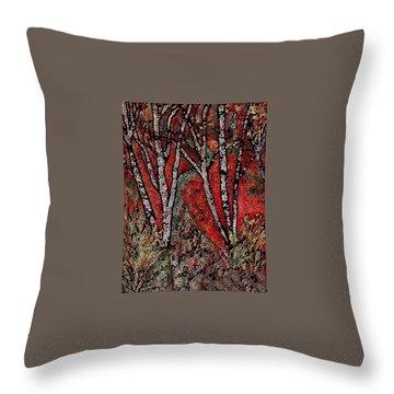 Birch Tree Mosaic Throw Pillow