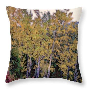Birch Trees #2 Throw Pillow