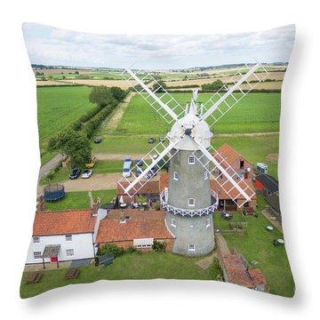 Bircham Windmill Throw Pillow by Steev Stamford