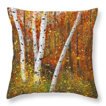 Birches Throw Pillow