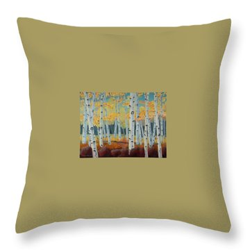 Birchwood Forest Throw Pillow