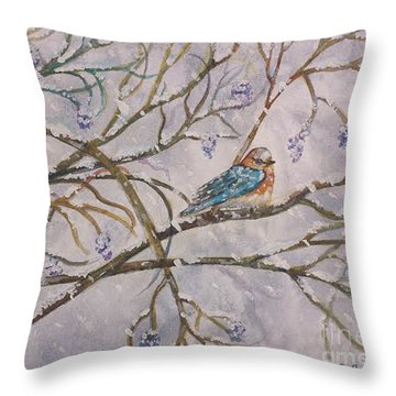 Bird And Branches Throw Pillow