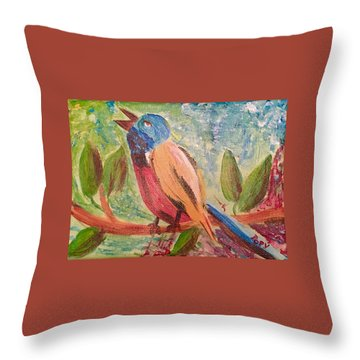 Bird At Rest Throw Pillow