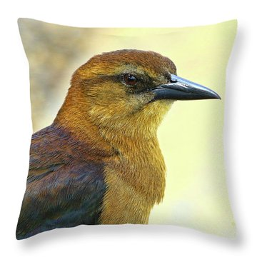 Throw Pillow featuring the photograph Bird Beauty by Deborah Benoit