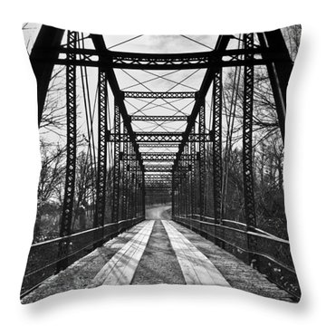 Bird Bridge Black And White Throw Pillow