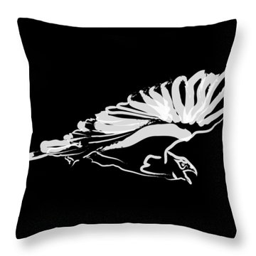Throw Pillow featuring the painting Bird Buzzard  by Go Van Kampen