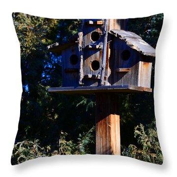 Bird Condos Throw Pillow