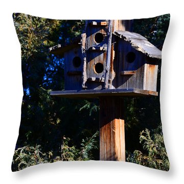 Bird Condos Throw Pillow by Robert WK Clark