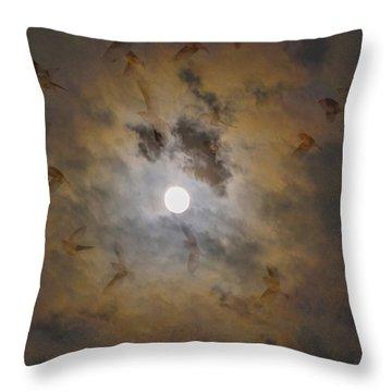 Bird Dreams Throw Pillow by Sue McGlothlin