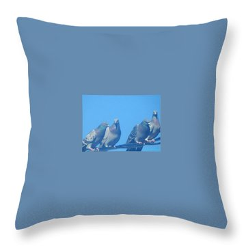 Bird Gossip Throw Pillow