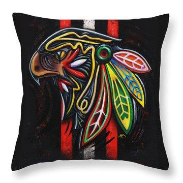 Bird Head Throw Pillow by Michael Figueroa