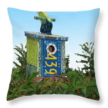 Bird House 439 Throw Pillow