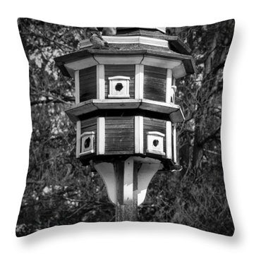 Throw Pillow featuring the photograph Bird House by Jason Moynihan