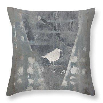 Bird In Heart Throw Pillow