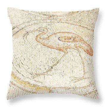 Bird Mosaic Throw Pillow by Tal Bedrack