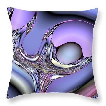 Bird Nest Fractal Throw Pillow