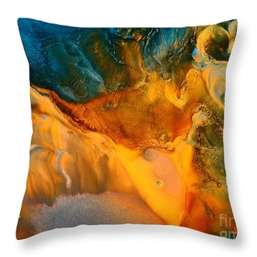 Bird Of Freedom Liquid Abstract Art Fluid Painting By Kredart Throw Pillow