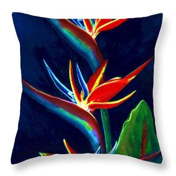 Bird Of Paradise #161 Throw Pillow by Donald k Hall