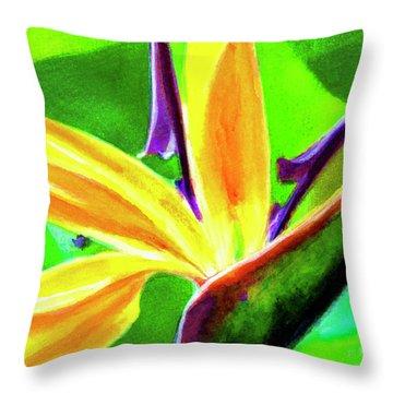 Bird Of Paradise #262 Throw Pillow by Donald k Hall