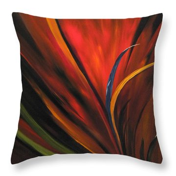 Bird Of Paradise Throw Pillow by Carol Sweetwood