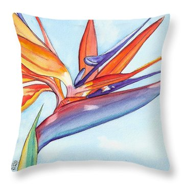 Bird Of Paradise IIi Throw Pillow by Marionette Taboniar