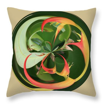 Throw Pillow featuring the photograph Bird Of Paradise Orb by Bill Barber