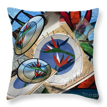 Bird Of Pardise Starling Saver Throw Pillow