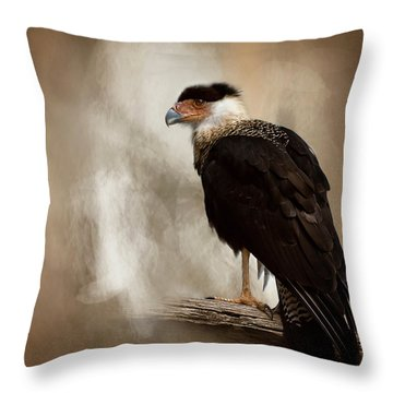 Bird Of Prey Throw Pillow by Cyndy Doty