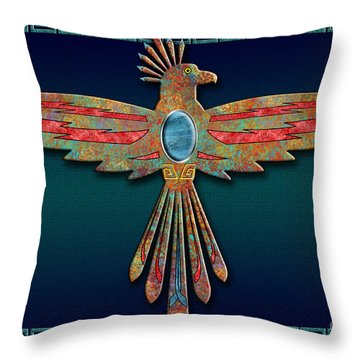 Bird Of Thunder Throw Pillow