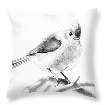 Bird On A Branch Throw Pillow by Eleonora Perlic