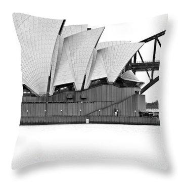 Bird On The Harbour Throw Pillow