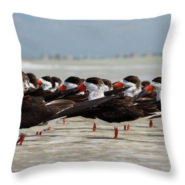 Bird Party Throw Pillow