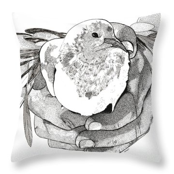 Bird Peace Throw Pillow