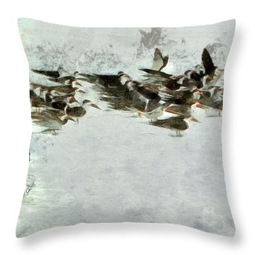 Bird Play Throw Pillow