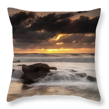 Bird Rock Clearing Storm Throw Pillow