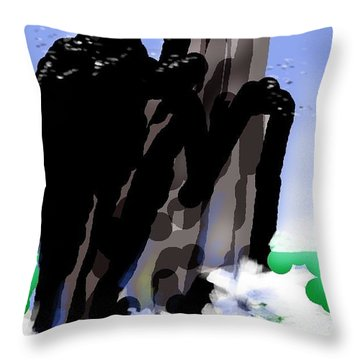 Bird Rock Off Marin Headlands Throw Pillow