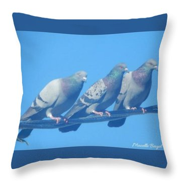 Bird Trio Throw Pillow