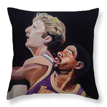 Bird Vs Magic Throw Pillow by Jason Majiq Holmes