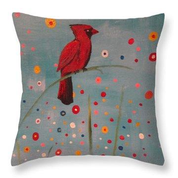 Bird Watching II Throw Pillow