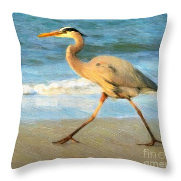 Bird With A Purpose Throw Pillow