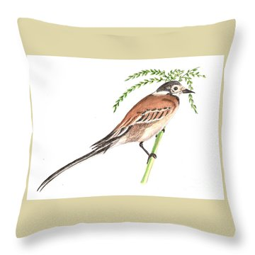 Bisbita Arboreo Throw Pillow