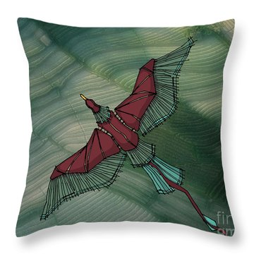birdEYE volcano III Throw Pillow