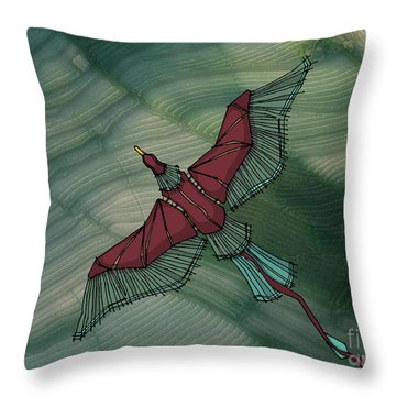 birdEYE volcano III Throw Pillow