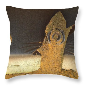 Birdfish And The Moon Throw Pillow