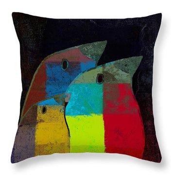 Birdies - C2t1v4 Throw Pillow