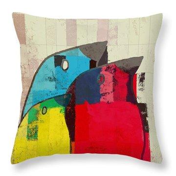 Birdies - J039088097a Throw Pillow