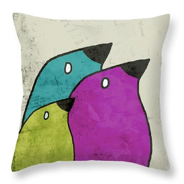 Birdies - V06c Throw Pillow by Variance Collections