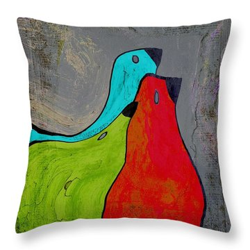 Birdies - V110b Throw Pillow by Variance Collections