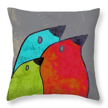 Birdies - V11b Throw Pillow by Variance Collections